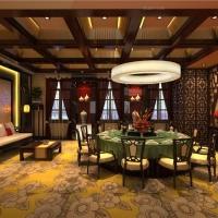 奢华中国风餐饮会所中式装修
