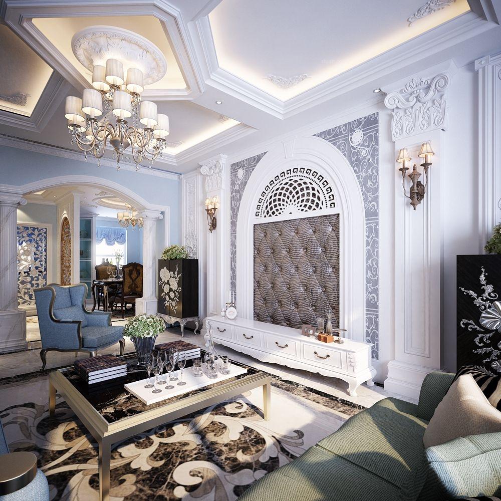 别墅法式风格餐厅_半山居 法式风格别墅案例装修效果图片