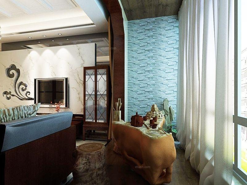 四居室中式风格阳台