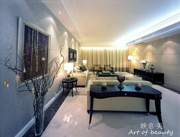三室两厅中式风格客厅软装