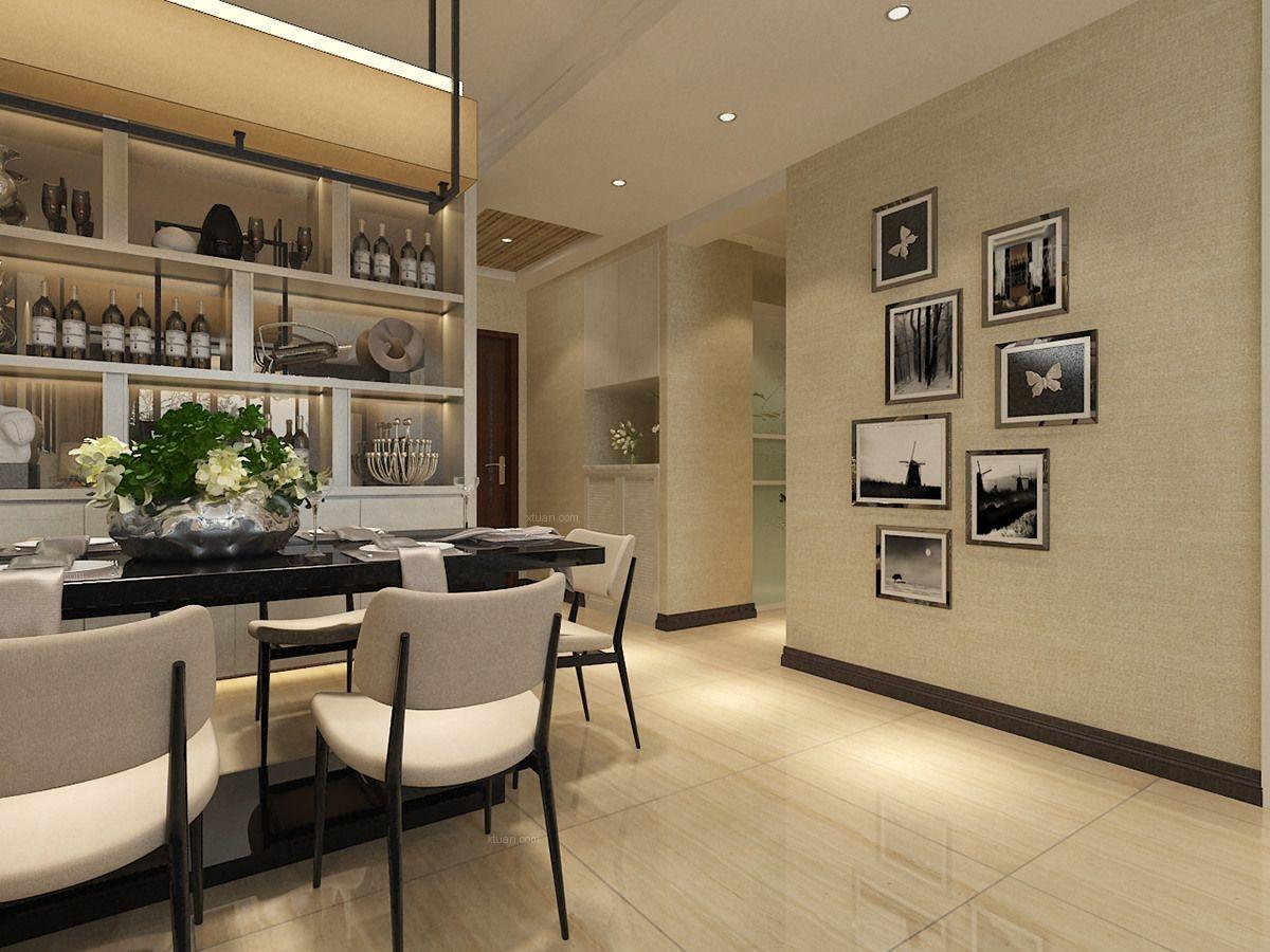 两室两厅时尚风格过道照片墙