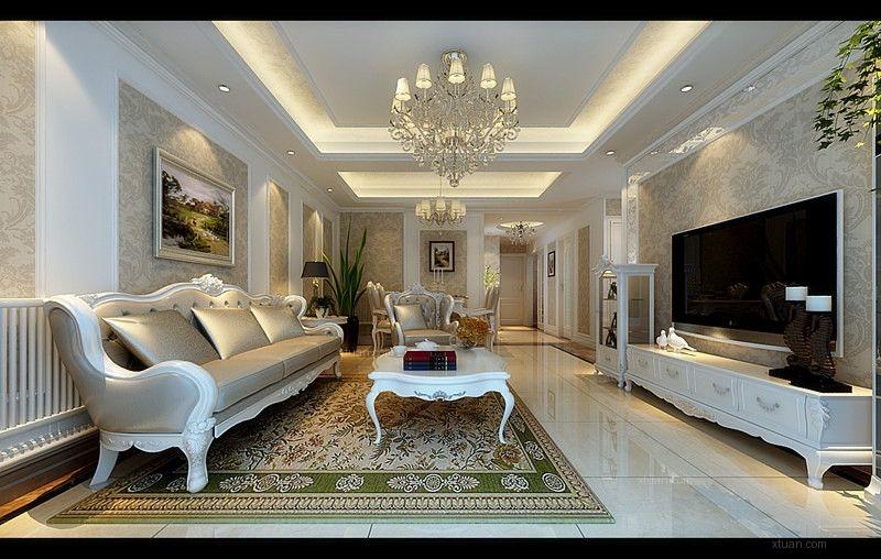 大厅沙发背景墙石膏沙发背景墙图片1