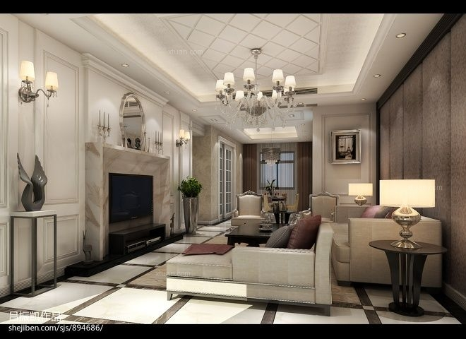 三室两厅北欧风格客厅