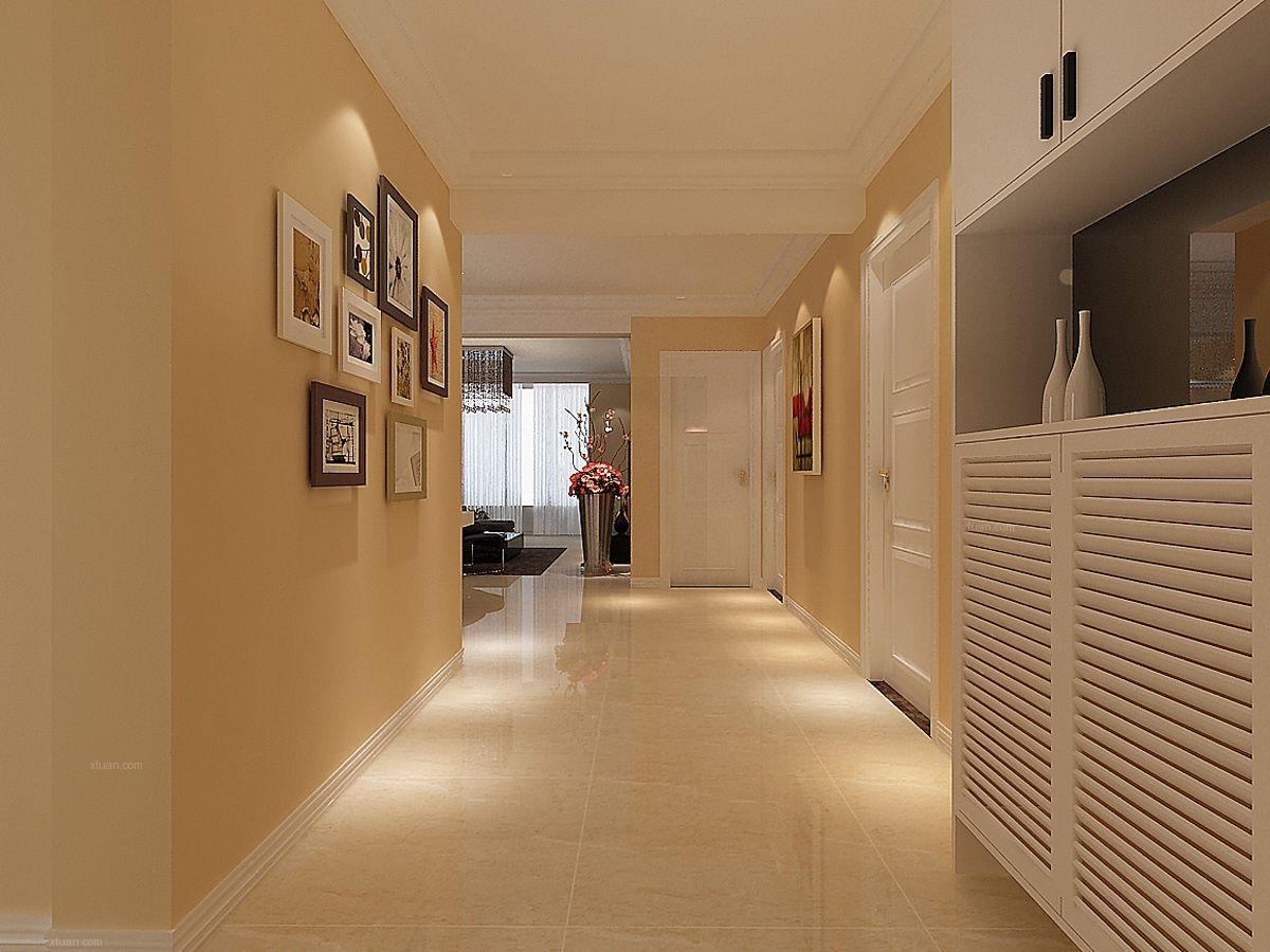 三室两厅现代简约玄关照片墙