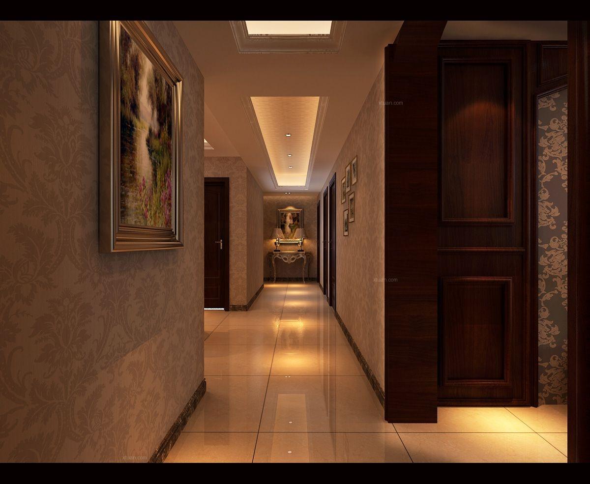 四居室古典风格过道地台
