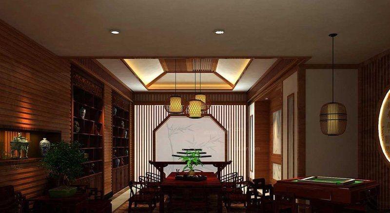 中式茶楼案例装修效果图图片