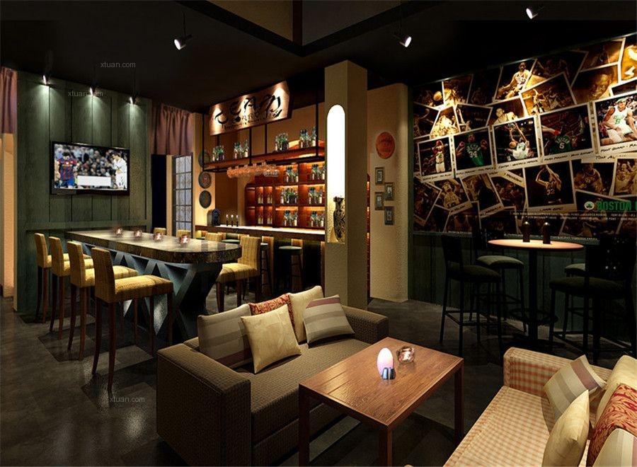 美式风格酒吧
