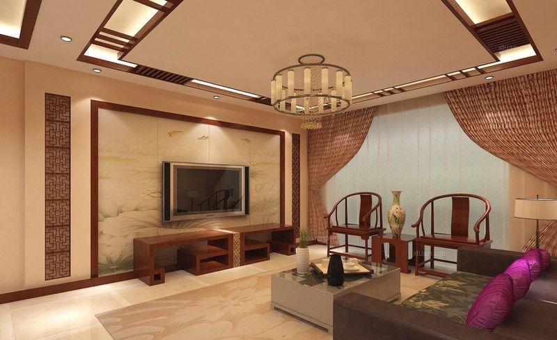简约中式电视背景墙_中式客厅电视背景墙效果图-现代中式实木家具配什么电视背景墙 ...