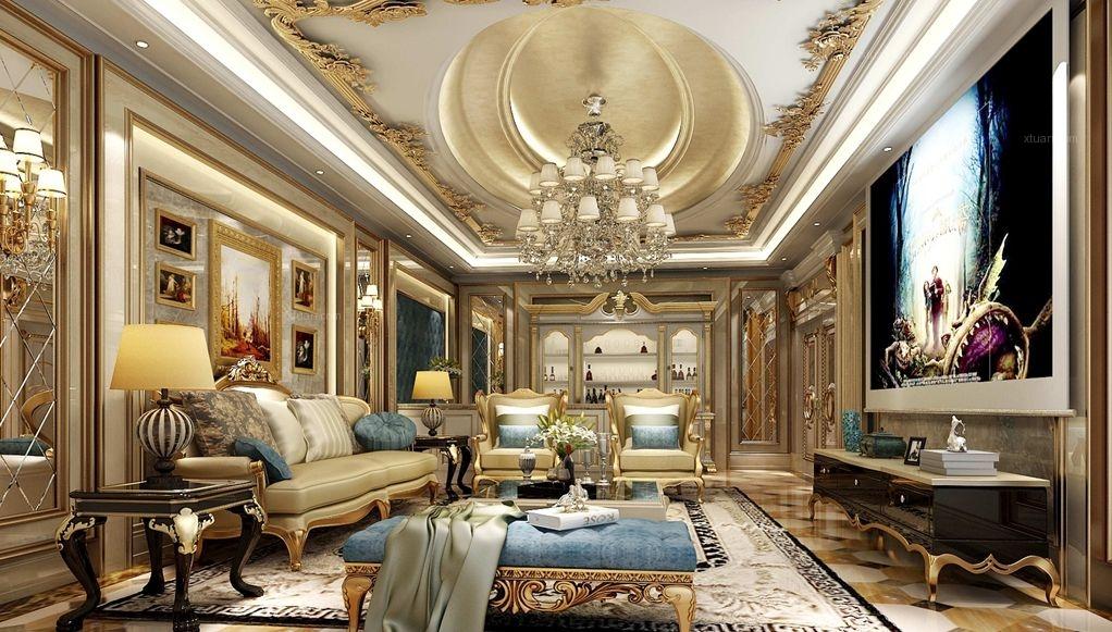 独栋别墅法式风格客厅