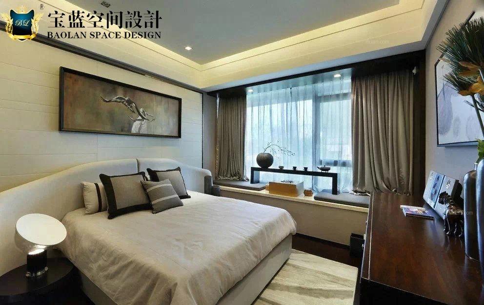 两居室现代风格卧室照片墙