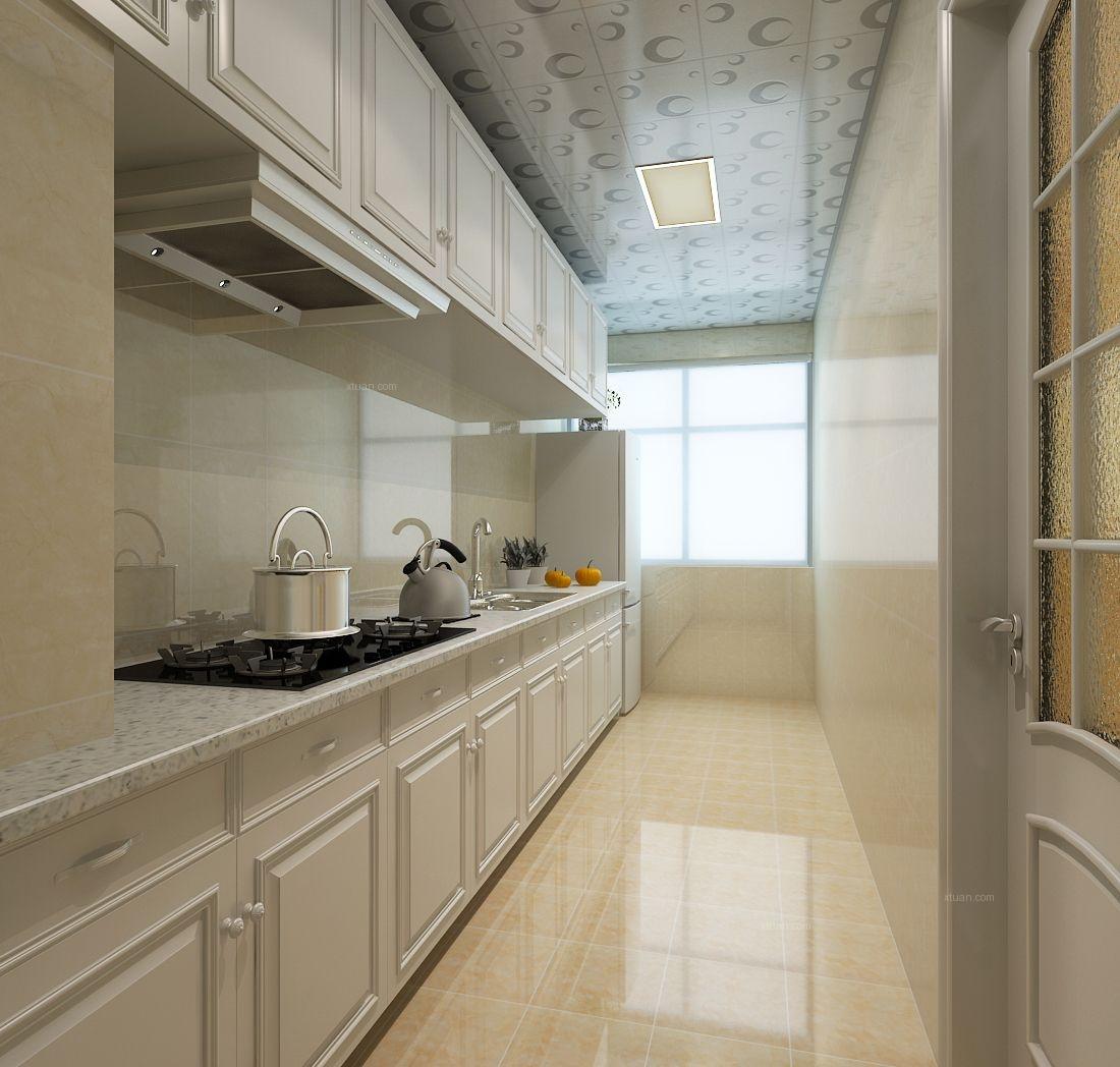 三居室欧式风格厨房开放式厨房