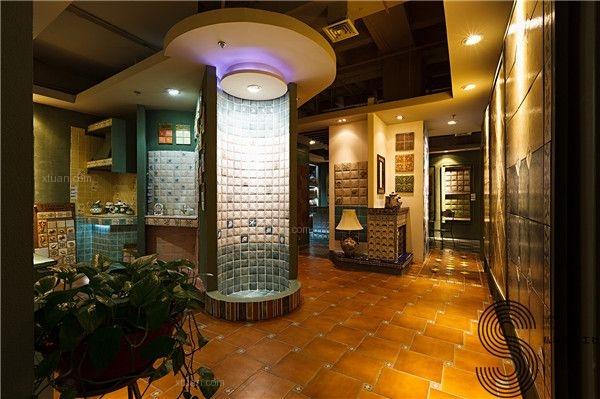 成都商铺设计公司意大利TAKENI树脂&卡莱雅手工瓷砖店