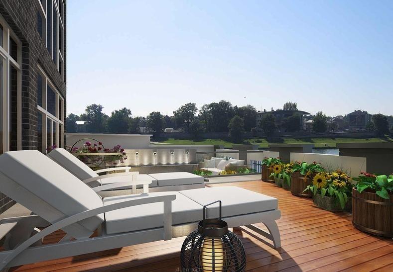 别墅新古典阳台花园