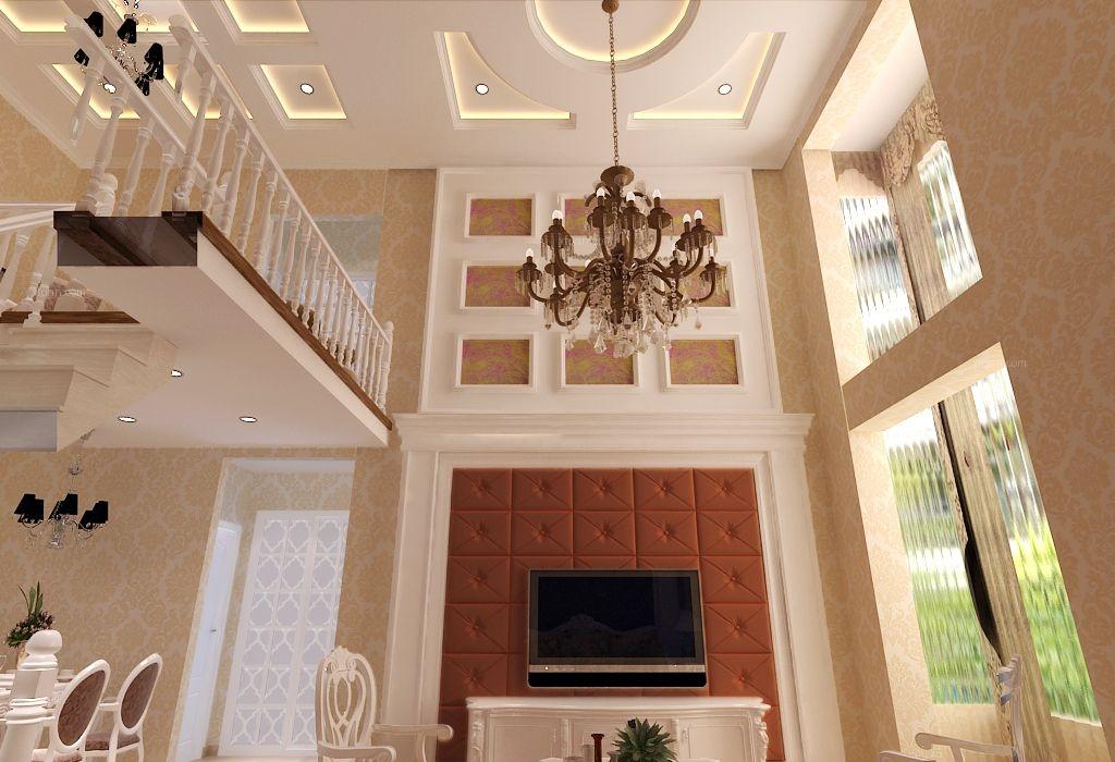复式楼混搭风格客厅_第一城装修效果图图片