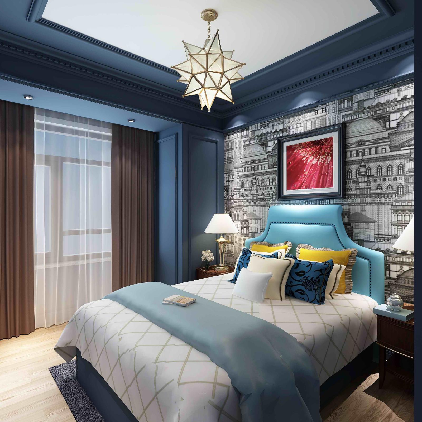 三居室混搭风格小卧室