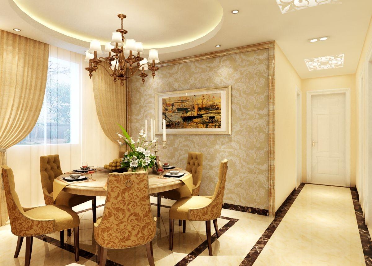 两室一厅简欧风格餐厅_花样城(简欧)装修效果图图片