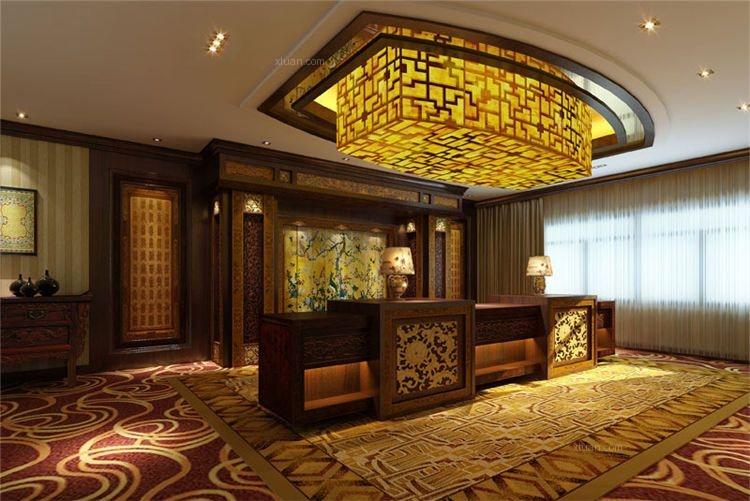 中式风格会所_中式酒店会所装修效果图图片