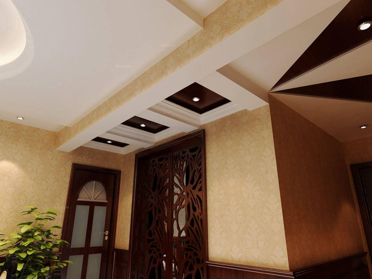 大户型美式风格餐厅圆形吊顶