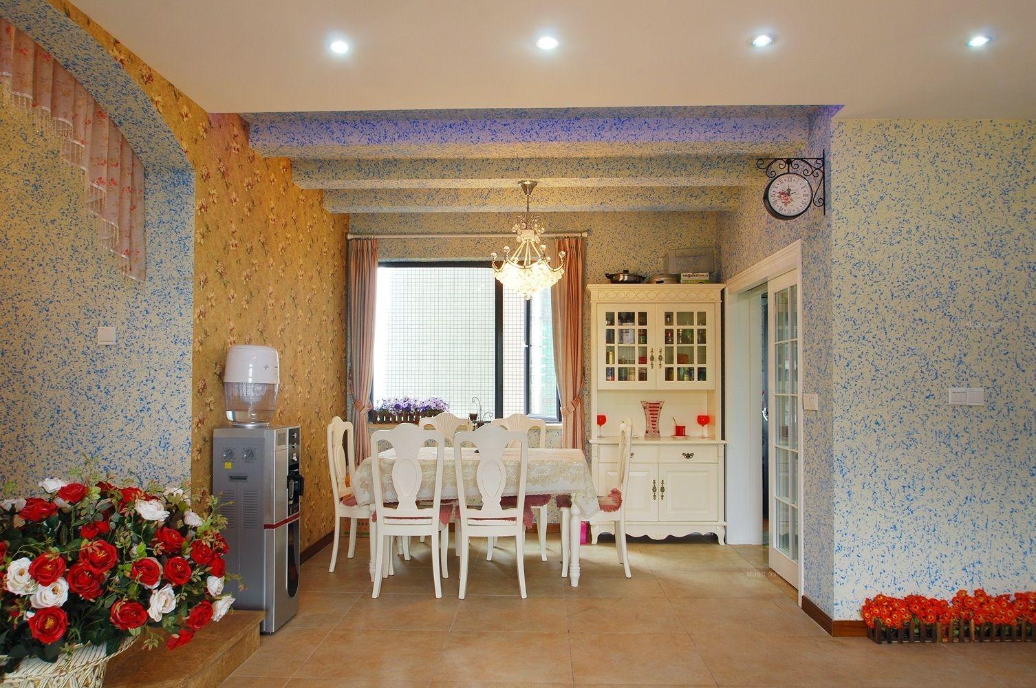 四居室地中海风格餐厅软装