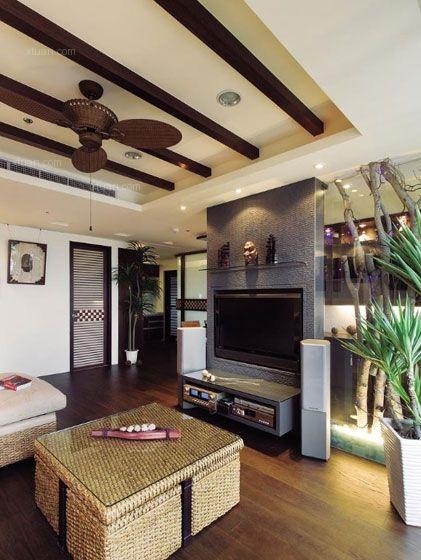 两居室东南亚风格客厅