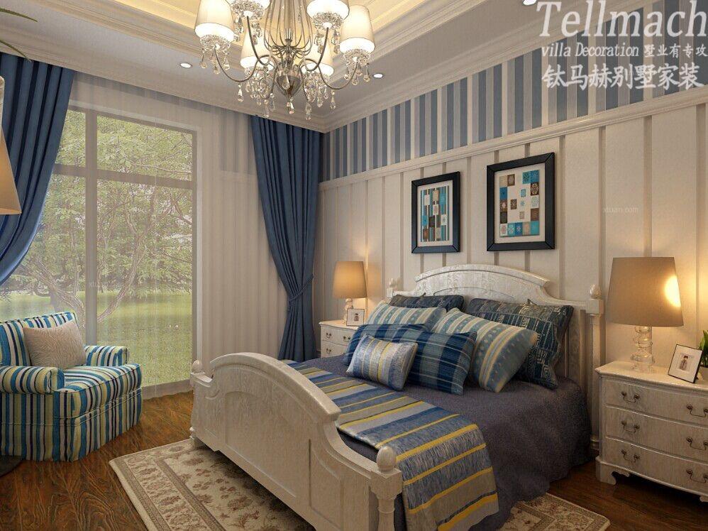 大户型美式风格卧室图片