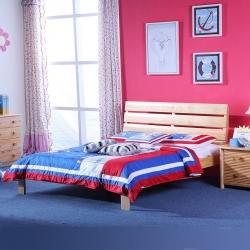 实木单人床设计