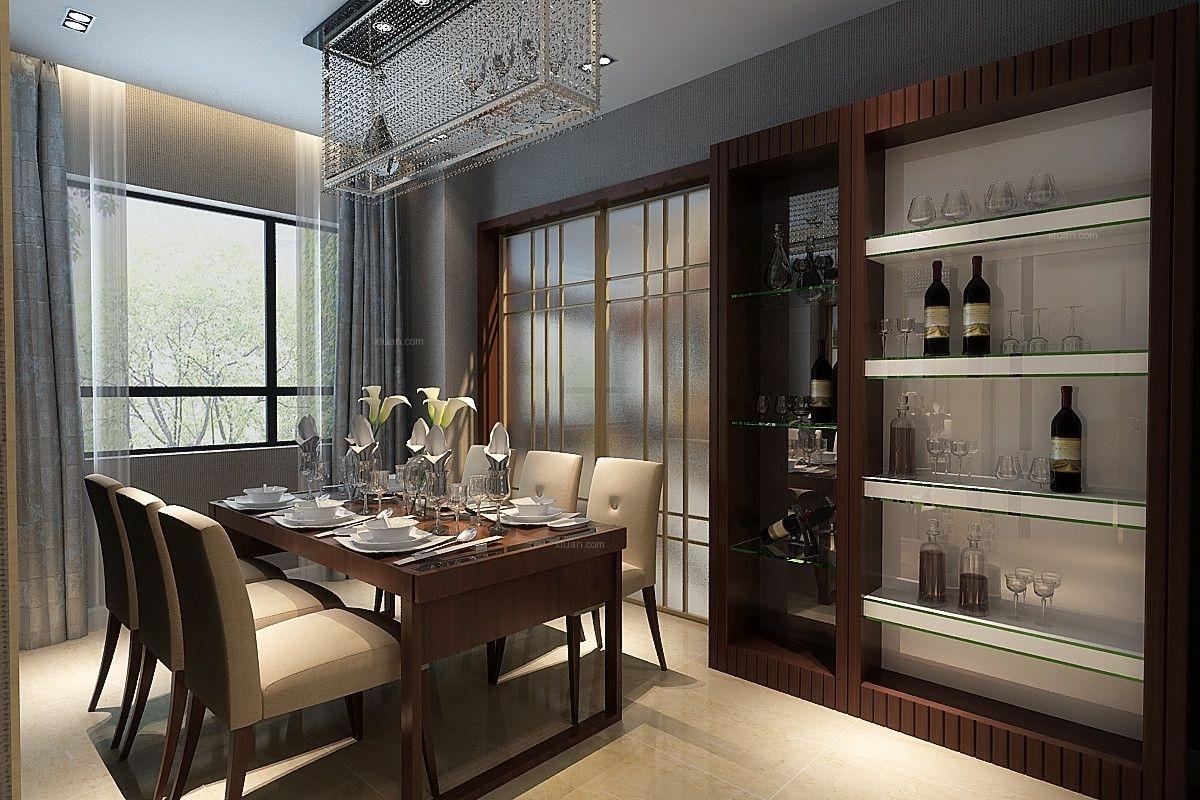 三居室哥特风格餐厅_华润奉天九里149平港式风格装修图片
