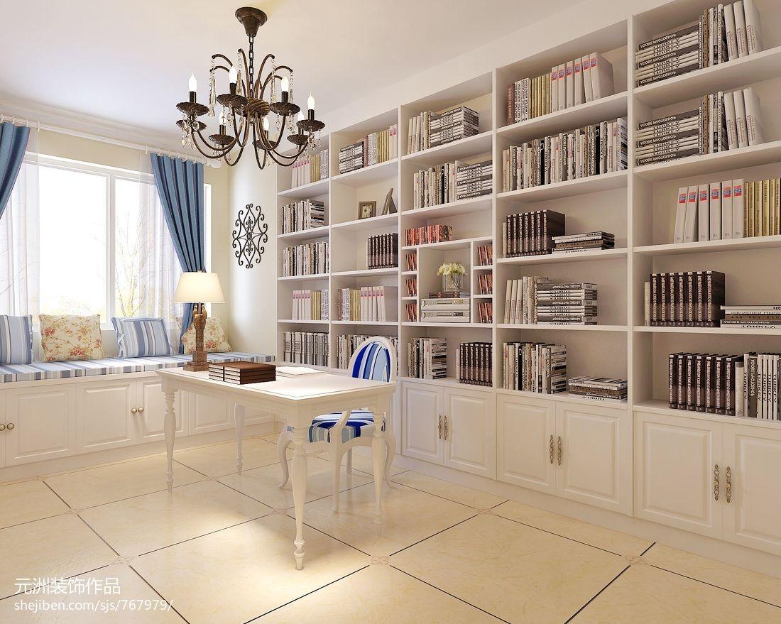 书房书架装修效果图