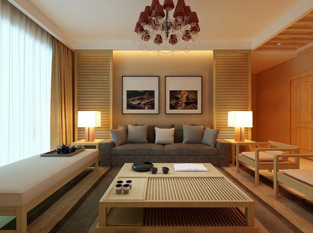 两居室简约风格客厅电视背景墙