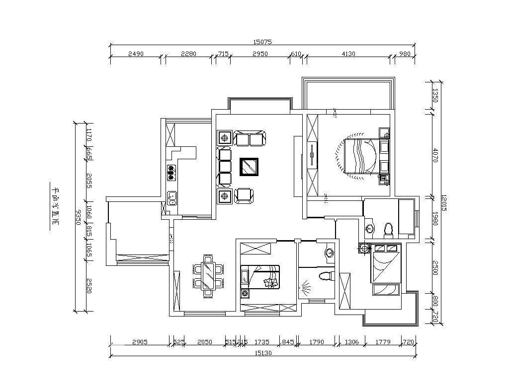 三室一厅休闲区