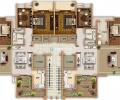 三室两厅户型图图片