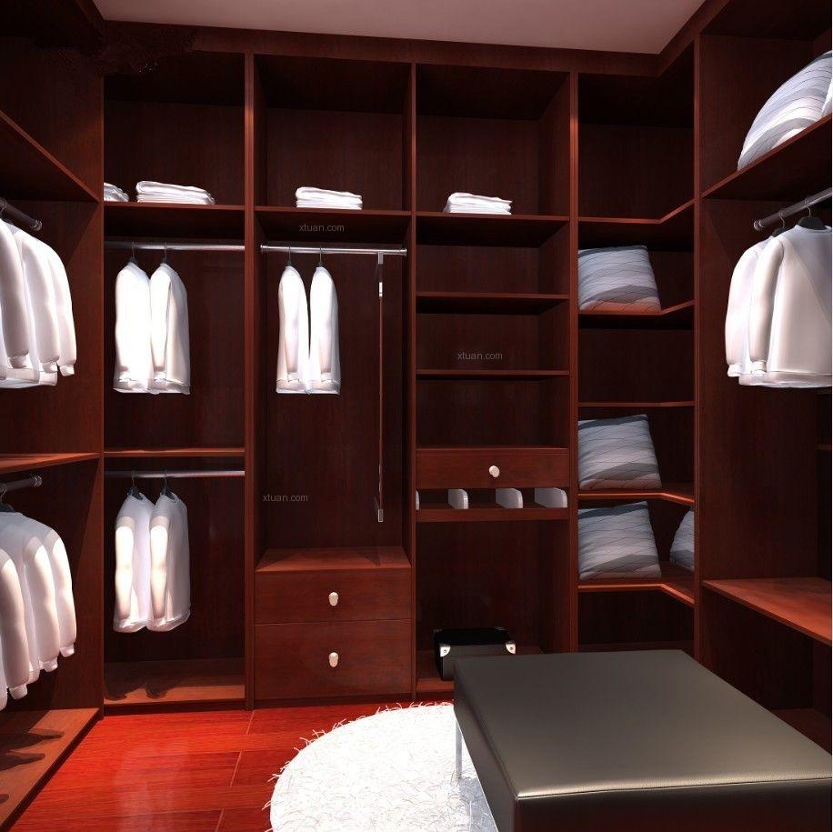 四居室现代风格衣帽间