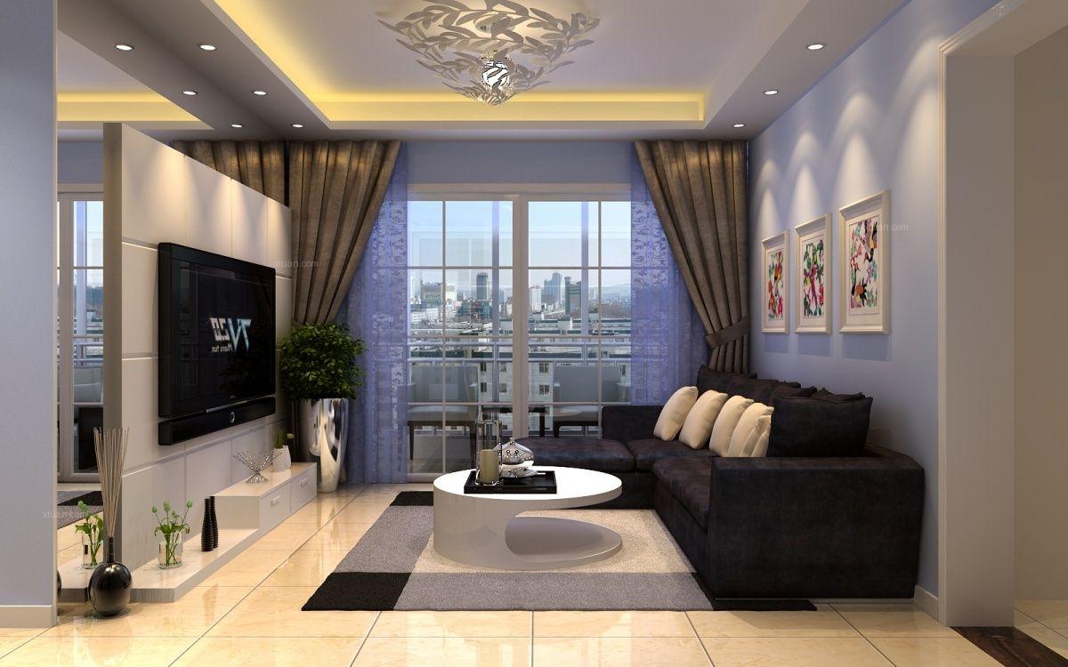 电视墙隔断效果图片装修效果图-x团装修网