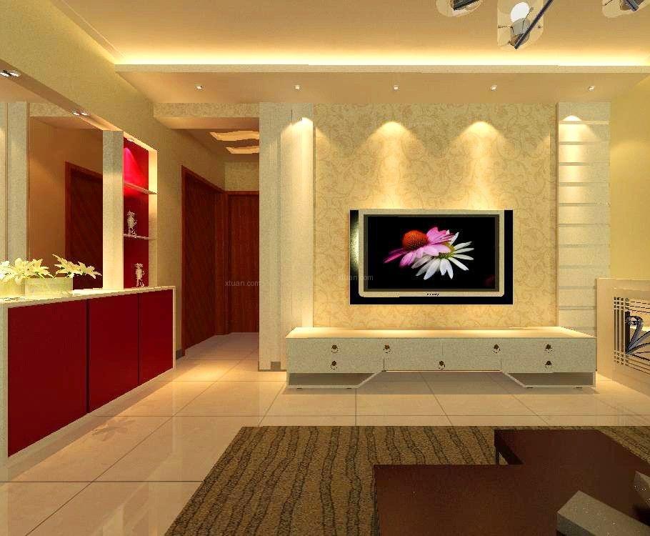两室一厅北欧风格客厅影视墙