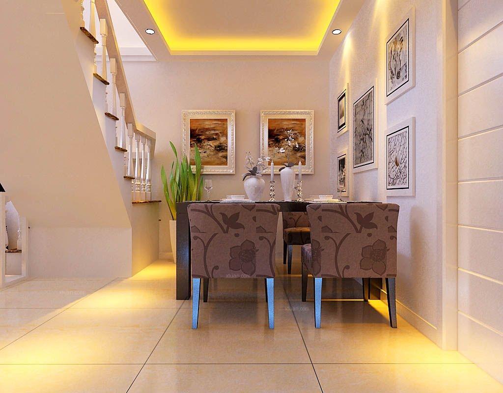 复式楼现代简约客厅_亿科2010小区130平复式装修效果图片