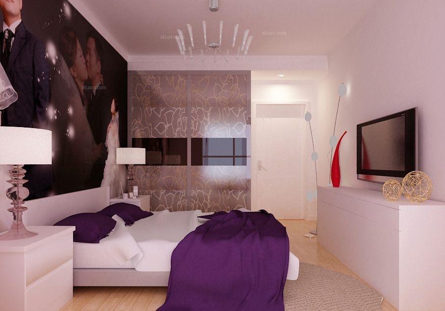 三居室现代风格卧室