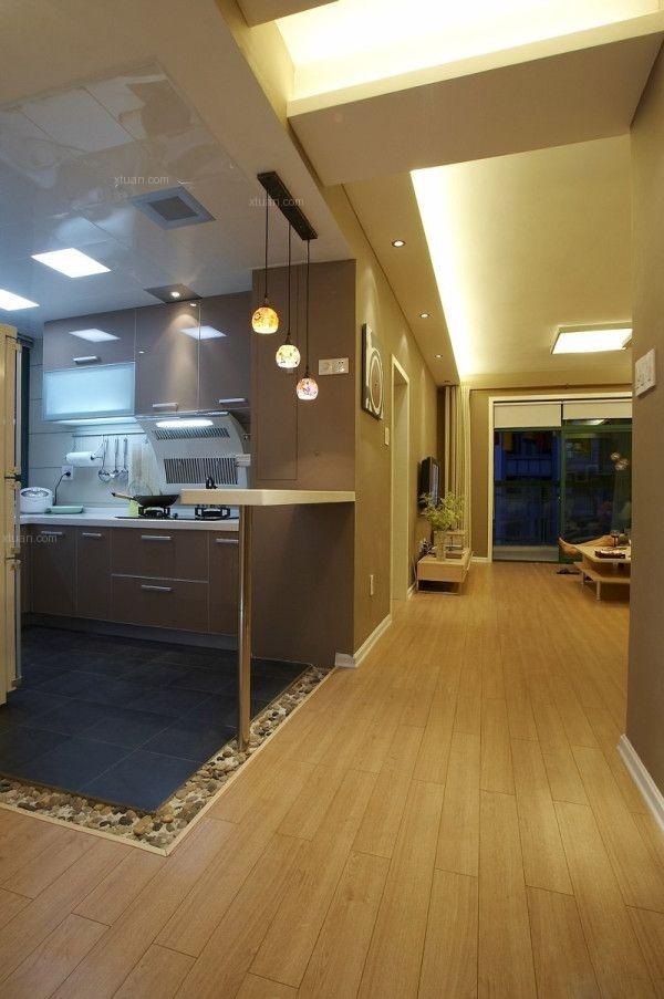 两居室现代简约厨房开放式厨房