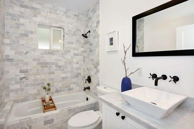 三居室北欧风格卫生间图片