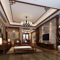 联泰香域中央-现代中式风格-三居室