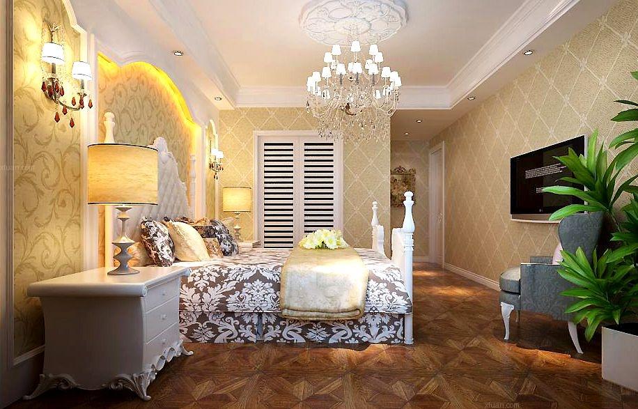 两居室法式风格卧室_金地名京122装修效果图-x团装修网