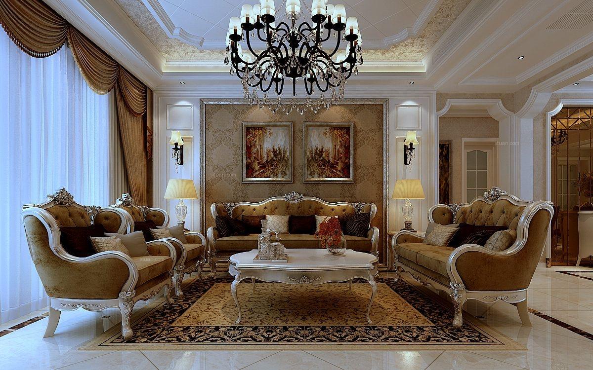 三室两厅简欧风格卧室卧室背景墙_格兰云天装修效果图图片