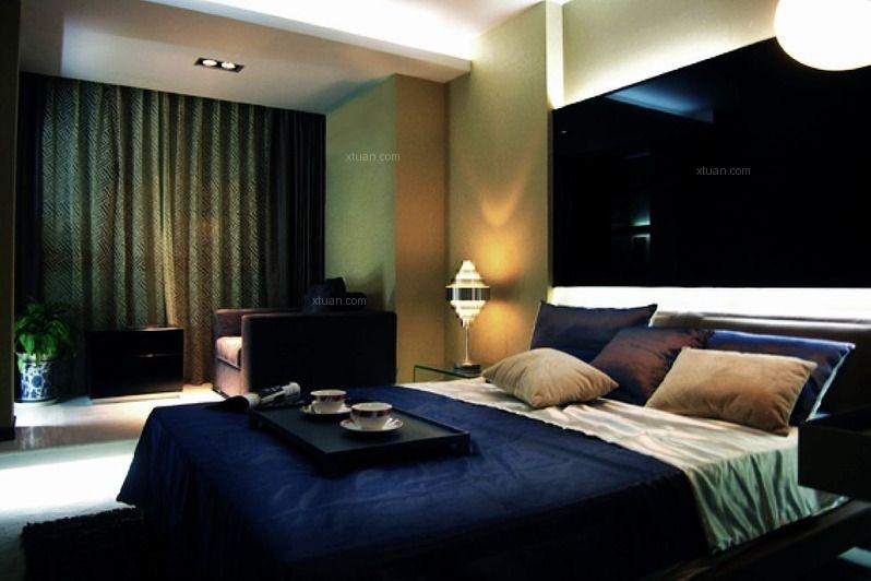 复式楼现代风格卧室
