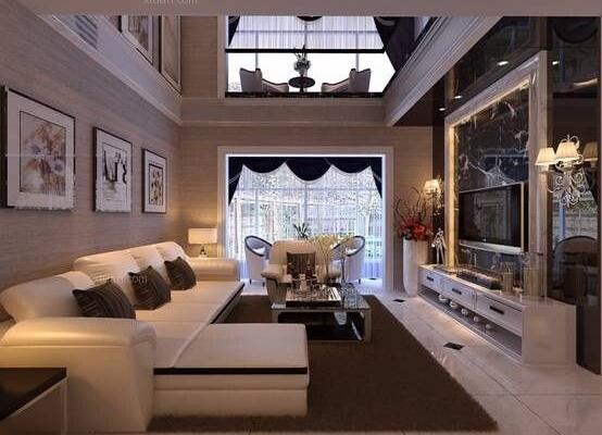 昆明市晋宁安居家园180平方跃层简约风格16万