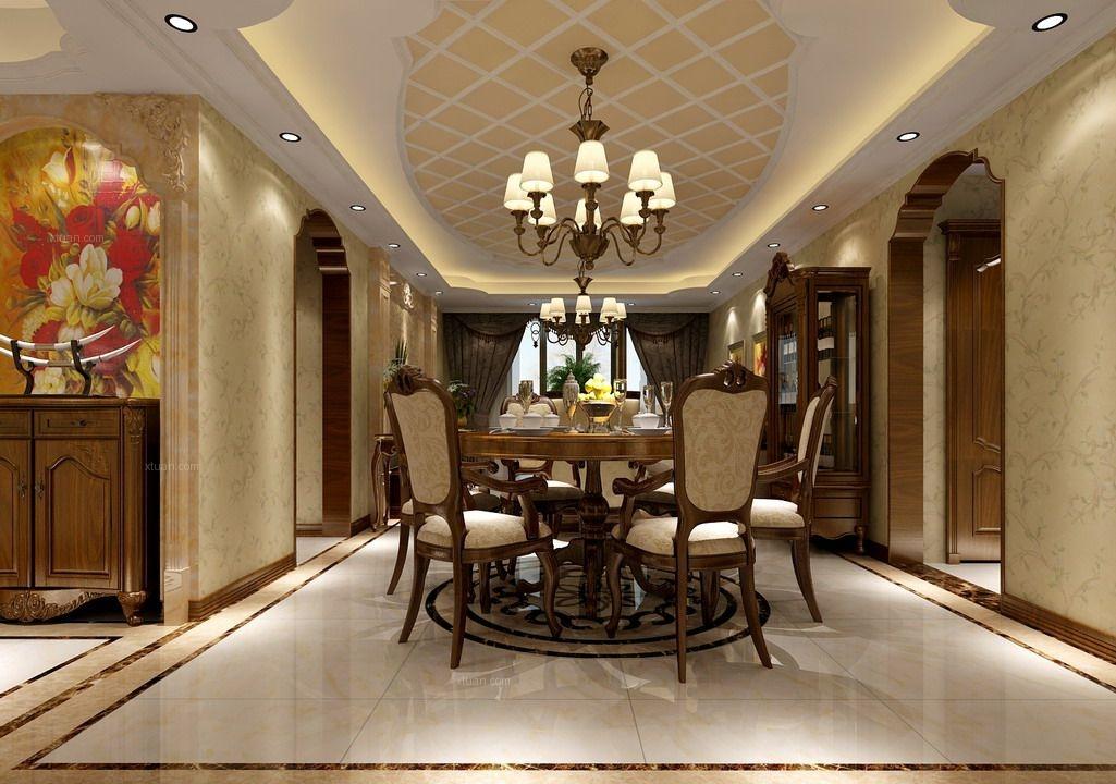 两居室新古典餐厅