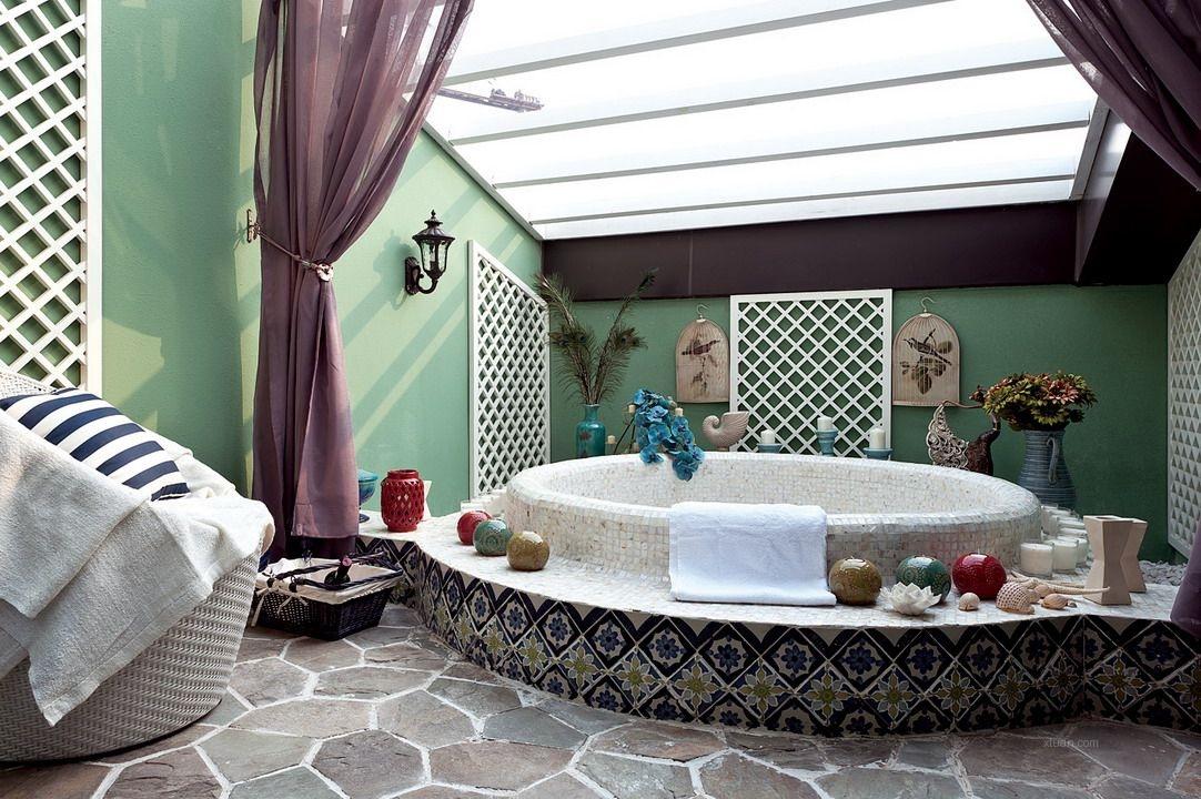 复式楼地中海风格浴室