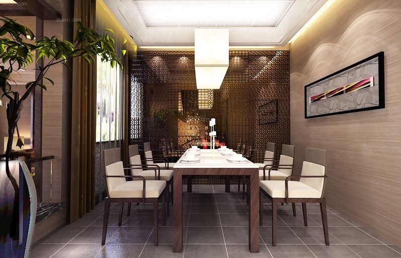 别墅现代风格餐厅