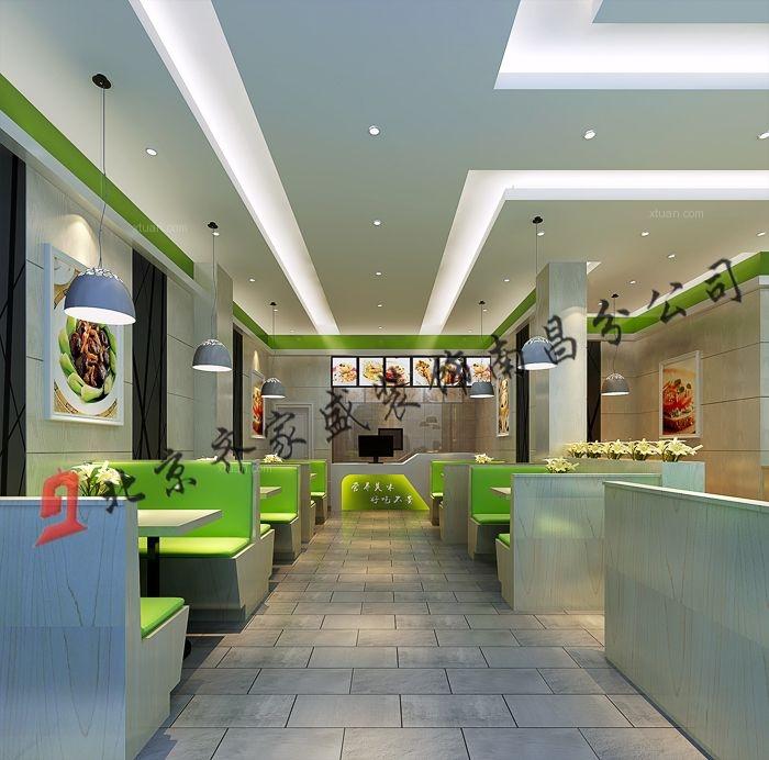 现代简约快餐店