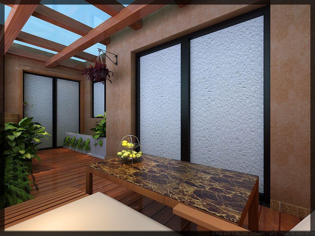 三室两厅中式风格休闲区地台图片
