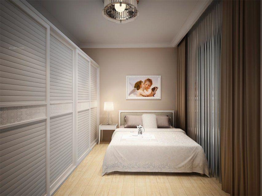 两室一厅现代简约卧室榻榻米
