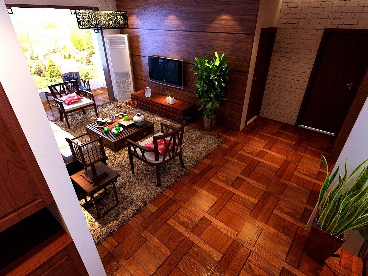三室两厅中式风格过道软装